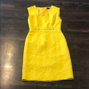 Tahari | Arthur Levine Yellow Sheath Dress Size 2P